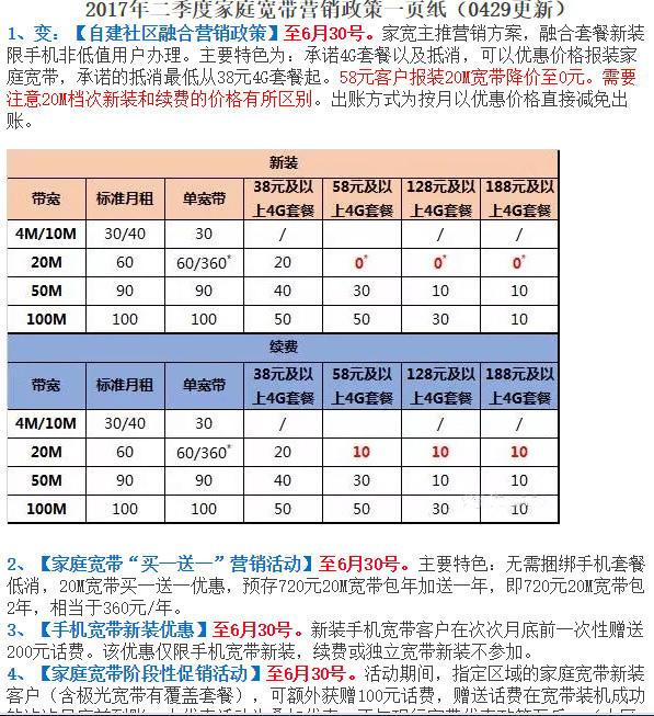 2017年广州移动初装宽带优惠 58套餐免费用2